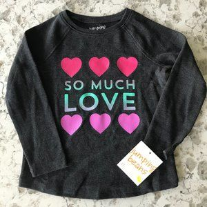 Jumping Beans black thermal glitter tee 2T